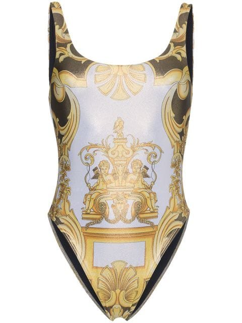 Versace Scoop Back Printed Swimsuit - Farfetch