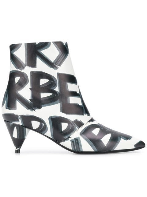 Burberry Printed Ankle Boots - Farfetch