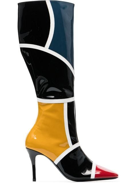 Dorateymur Leather Pointed 90 Knee High Boots  - Farfetch