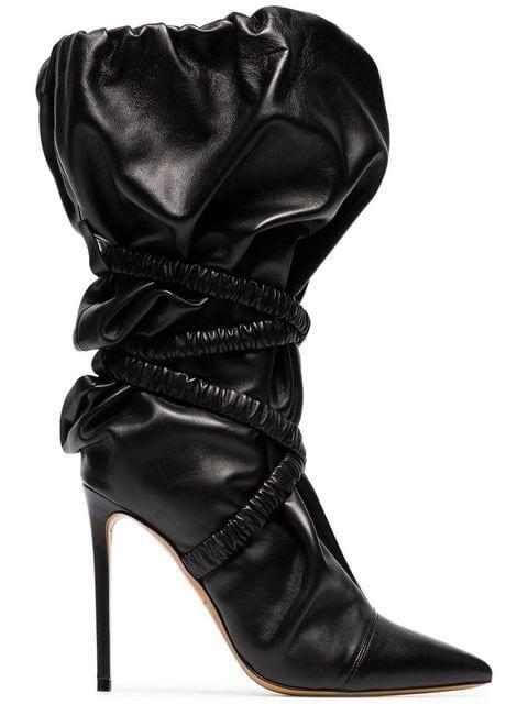 Alexandre Vauthier Dune 100 Wraparound Leather Boots - Farfetch
