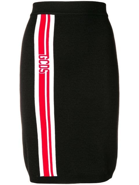 Gcds Stretch Midi Skirt - Farfetch
