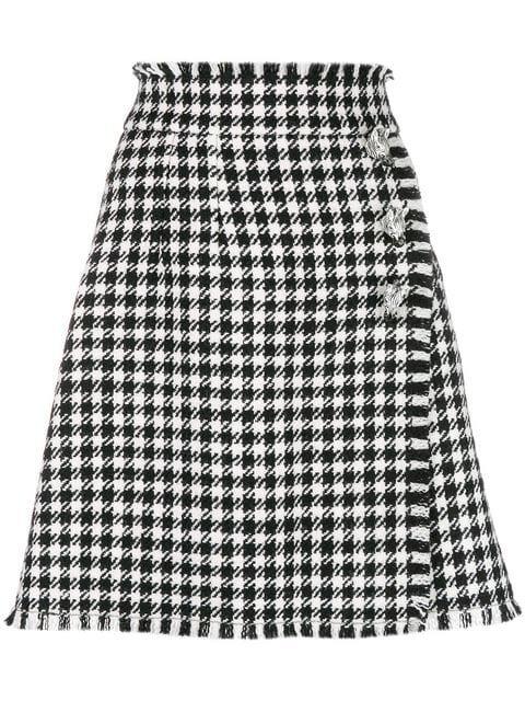 Dolce & Gabbana Vichy Pattern Skirt - Farfetch