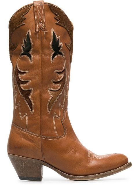 Golden Goose Deluxe Brand Leather Knee High Cowboy Boots  - Farfetch