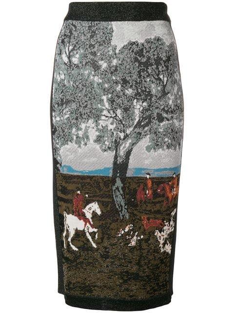 Antonio Marras Intarsia Pencil Skirt - Farfetch