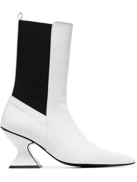 Marques\'almeida Leather Mid Calf Boots - Farfetch