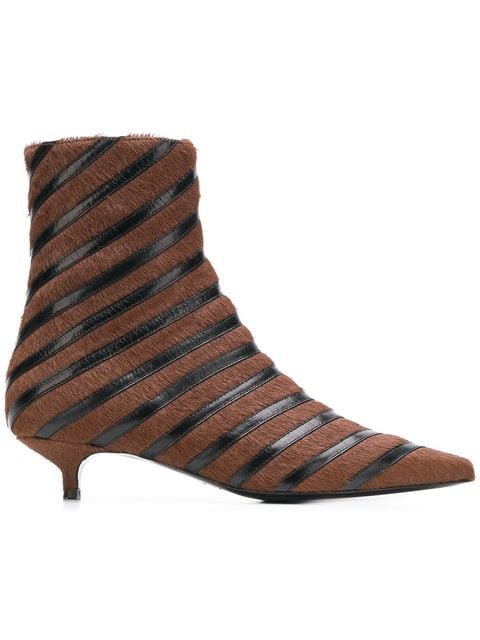 Sonia Rykiel Striped Ankle Boots - Farfetch