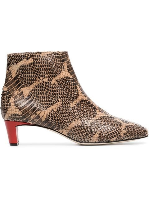 Atp Atelier Clusia 45 Snake Embossed Boots - Farfetch