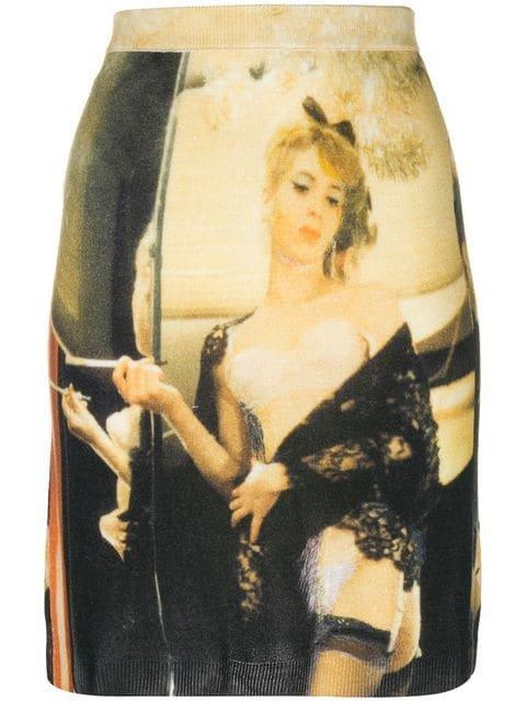 Moschino Printed Stretch Skirt - Farfetch