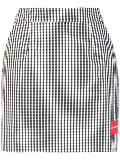 Ck Jeans Gingham Mini Skirt - Farfetch