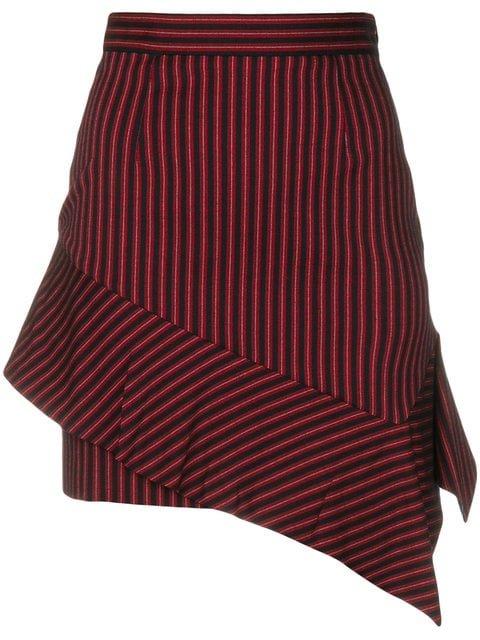 Pinko Asymmetric Stripe Mini Skirt - Farfetch