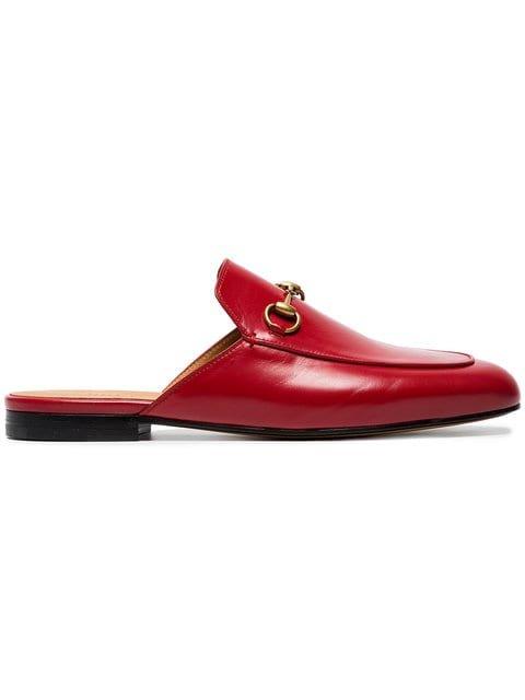 Gucci Red Princetown Leather Mules  - Farfetch