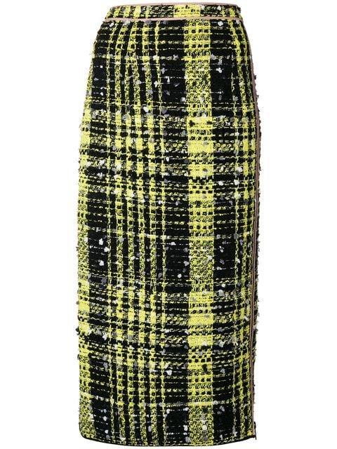 Nº21 Cheked Print Pencil Skirt - Farfetch