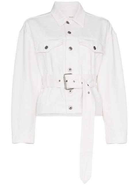 Proenza Schouler PSWL Belted Denim Jacket - Farfetch