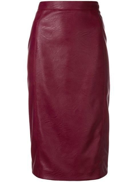 Stella McCartney Faux Leather Pencil Skirt - Farfetch