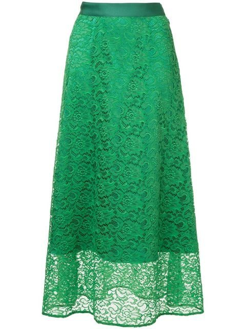 H Beauty&Youth Floral Lace Skirt - Farfetch