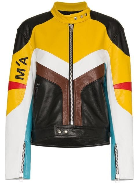 Marques\'almeida Panelled Leather Biker Jacket - Farfetch