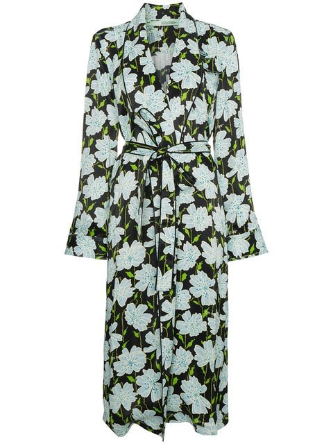 Off-White Floral Belted Robe Jacket - Farfetch