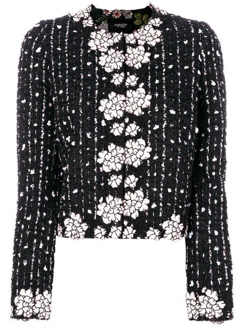 Giambattista Valli Boucle Flower Trim Jacket - Farfetch