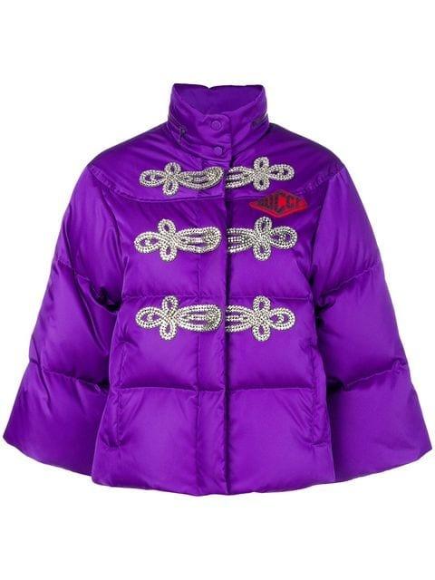 Gucci Crystal-embellished Puffer Jacket - Farfetch