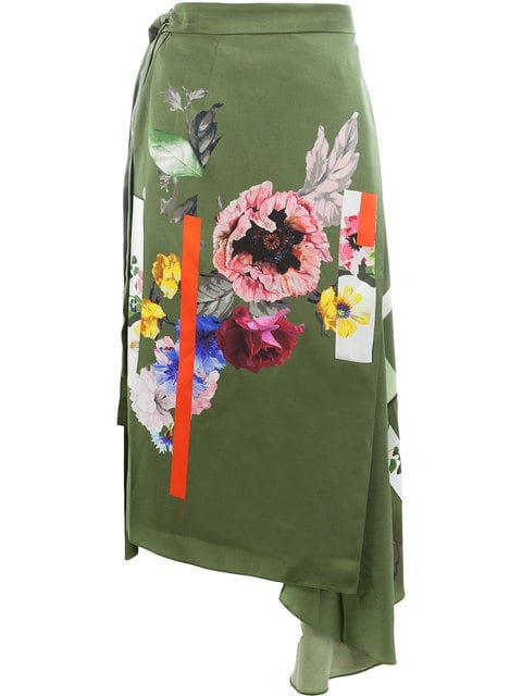 Preen By Thornton Bregazzi Sketchbook Floral Print Skirt - Farfetch