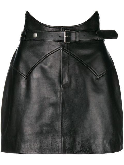 Saint Laurent Belted Mini Skirt - Farfetch