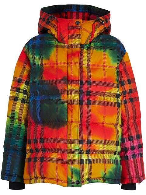 Burberry Tie-dye Print Vintage Check Puffer Jacket - Farfetch