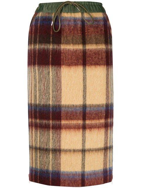 Sacai Checked Pencil Skirt - Farfetch