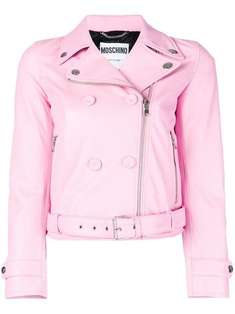 Moschino Double Breasted Biker Jacket - Farfetch