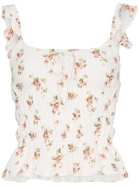 Reformation Aurora Floral Top - Farfetch