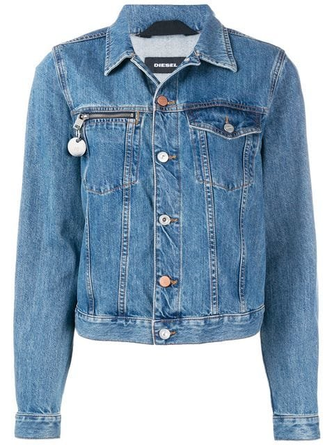 Diesel Number Plaque Denim Jacket - Farfetch