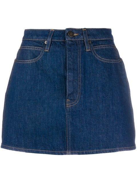 Calvin Klein Jeans Brooke Shields Panel Rinse Mini Skirt - Farfetch