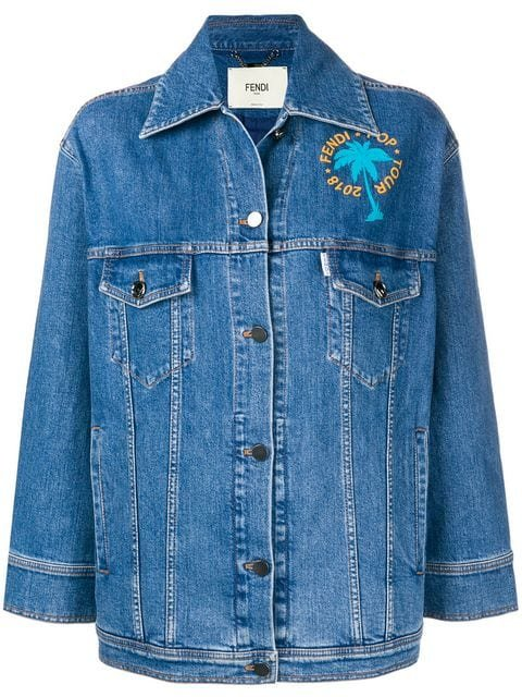 Fendi Embellished Denim Jacket - Farfetch