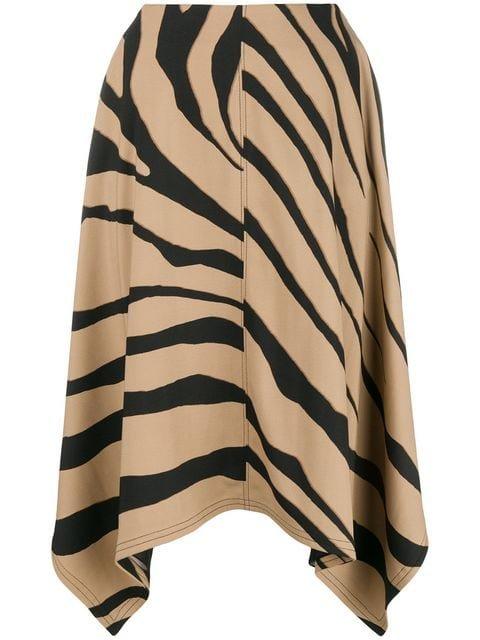 Roberto Cavalli Zebra Print Skirt - Farfetch