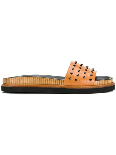 Tod\'s Studded Slides - Farfetch