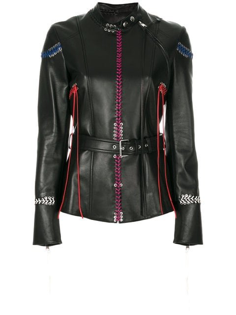 Alexander McQueen Whip-Stitched Leather Jacket - Farfetch