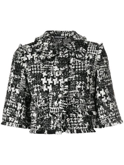 Dolce & Gabbana Tweed Cropped Jacket - Farfetch