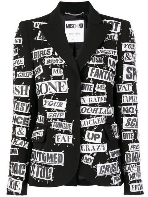 Moschino Newspaper Cut Out Blazer - Farfetch
