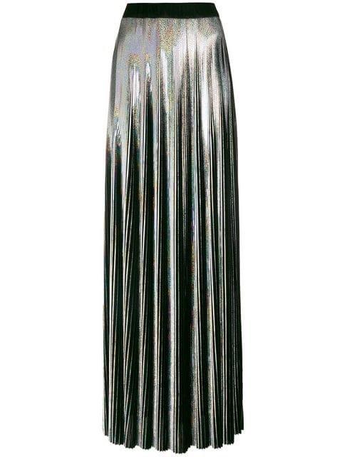 Balmain Holographic Pleated Skirt - Farfetch