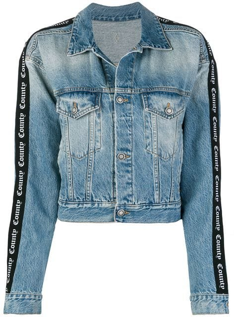 Marcelo Burlon County Of Milan Short Denim Jacket - Farfetch