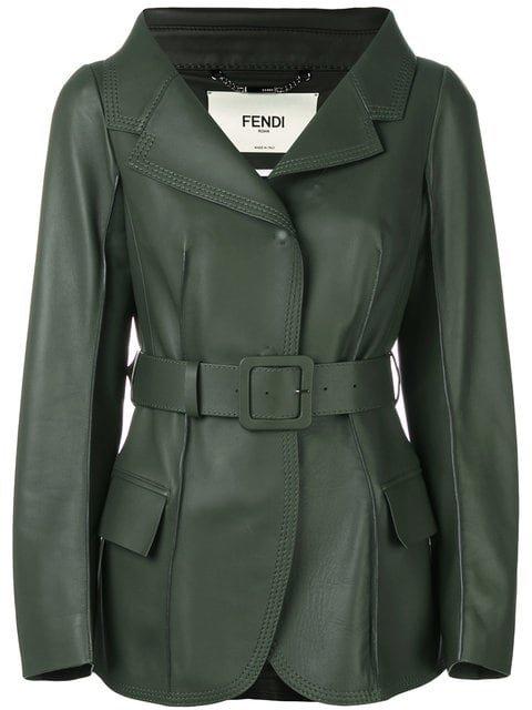 Fendi Belted Jacket - Farfetch