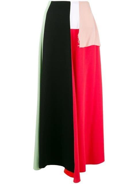 Marni Colour Block Skirt - Farfetch