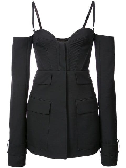 Vera Wang Spaghetting Strapped Long Sleeeved Jacket  - Farfetch