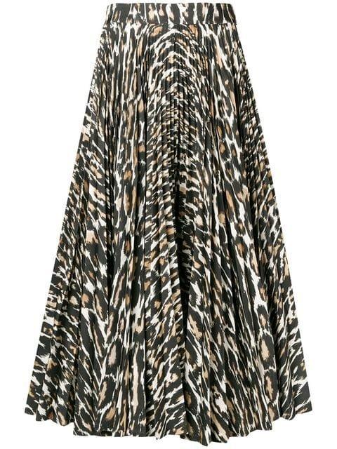 Calvin Klein 205W39nyc Flared Leopard Print Skirt - Farfetch