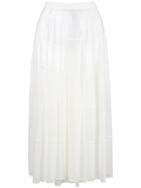 Jil Sander Flared Sheer Maxi Skirt - Farfetch