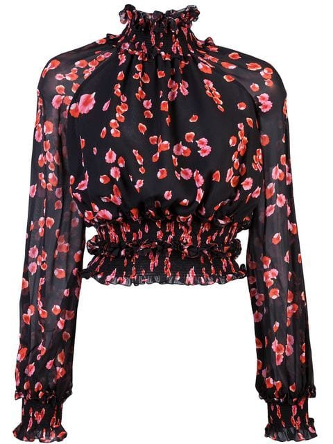 Giambattista Valli Floral Long-sleeve Blouse - Farfetch