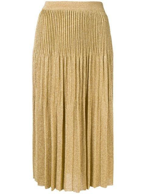 M Missoni Pleated Lurex Midi Skirt - Farfetch