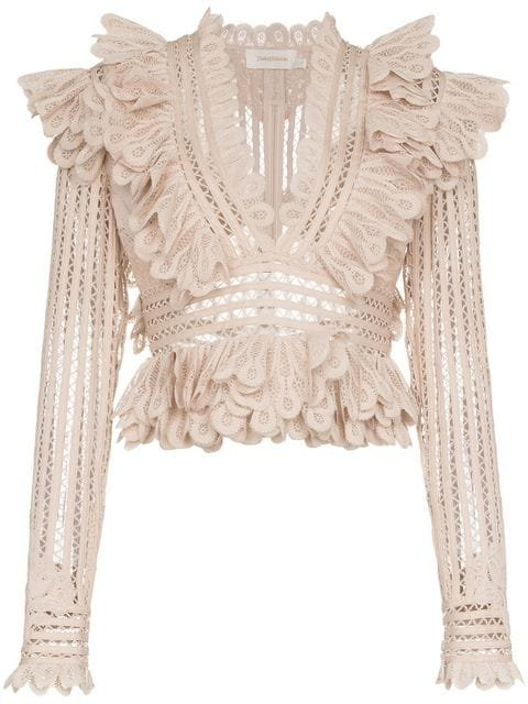 Zimmermann Battenberg Cropped Silk-blend Lace Top - Farfetch
