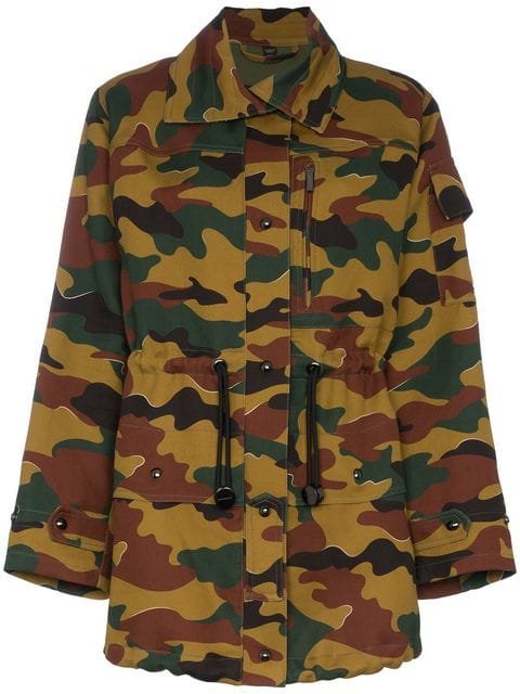 Burberry Camouflage Long Sleeve Jacket   - Farfetch
