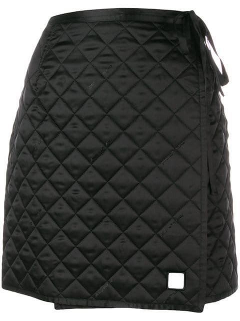 Off-White Quilted Mini Skirt - Farfetch