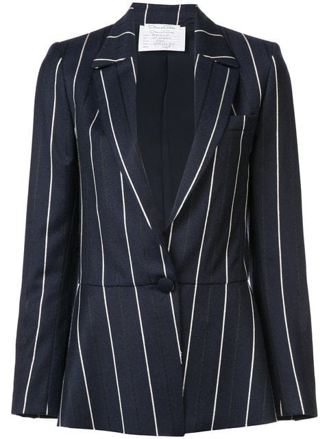 Oscar De La Renta Striped Blazer - Farfetch